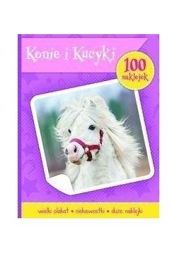100 naklejek. Konie i kucyki