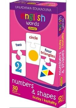 English words Liczby i kształty