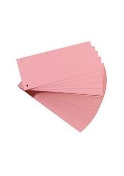 Przekładki 1/3 A4 kartonowe różowy Eco (100szt)