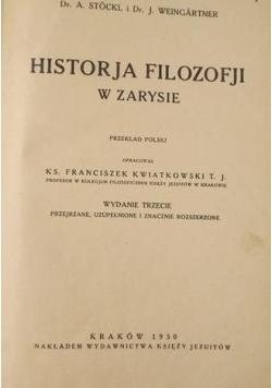 Historja Filozofji w zarysie , 1930 r.