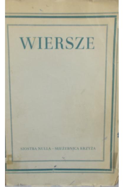 Wiersze R 1947 Siostra Nulla 1000 Zł Tezeuszpl