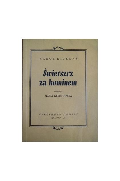 świerszcz Za Kominem 1946 R Karol Dickens 1400 Zł