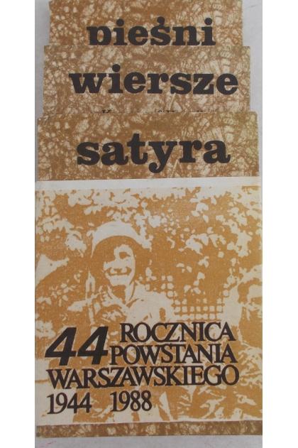 Wiersze Pieśni Powstania Warszawskiego Satyra Czasu Wojny