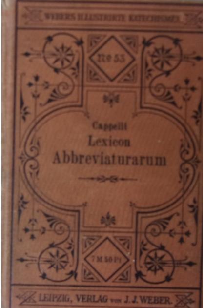 economico per lo sconto vendite speciali maggiore sconto di vendita Lexicon Abbreviaturarum, 1901r. - Adriano Capelli - 120.00 ...