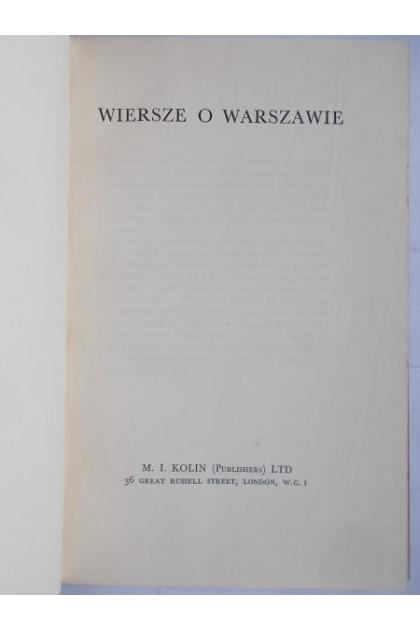 Wiersze O Warszawie 1941 R Julian Tuwim Teofil