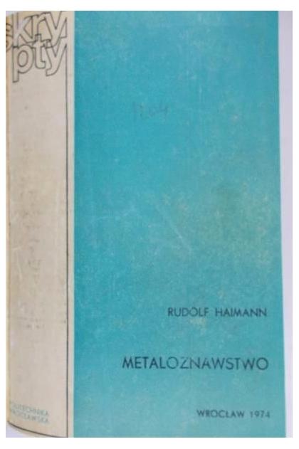 RUDOLF HAIMANN METALOZNAWSTWO EPUB
