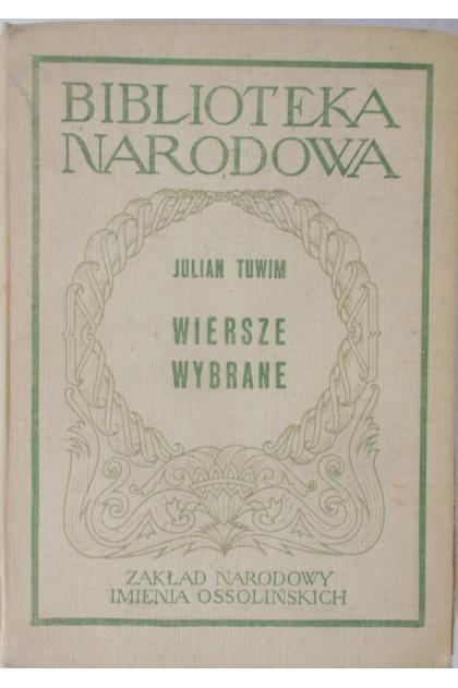 Biblioteka Narodowa Wiersze Wybrane Julian Tuwim 1000