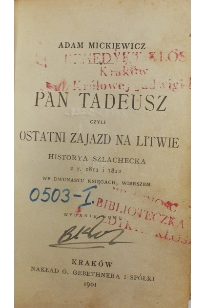 Pan Tadeusz Ostatni Zajazd Na Litwie 1901r Miniaturka